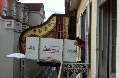 Déménagement effectué par l'entreprise suisse Ducret SA à Genève