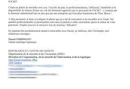 Client satisfait par Ducret, société de déménagement proposant des devis gratuit à Genève