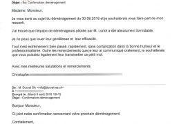 Évaluation d'une société de déménagement proposant des devis à Genève et dans toute la Suisse