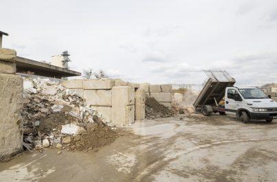 Plateforme de tri et de recyclage de déchets de chantier à Genève en Suisse